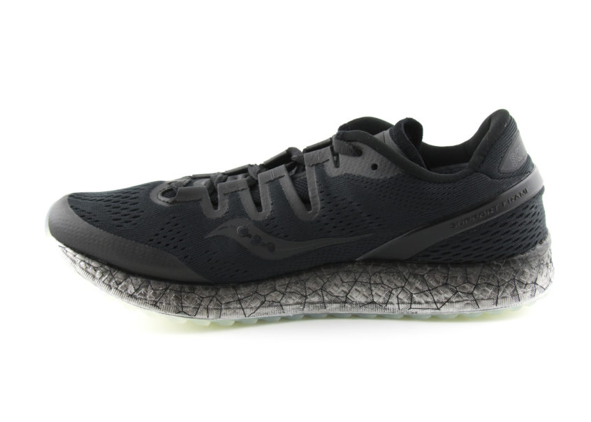 Saucony Freedom ISO in Black facing left
