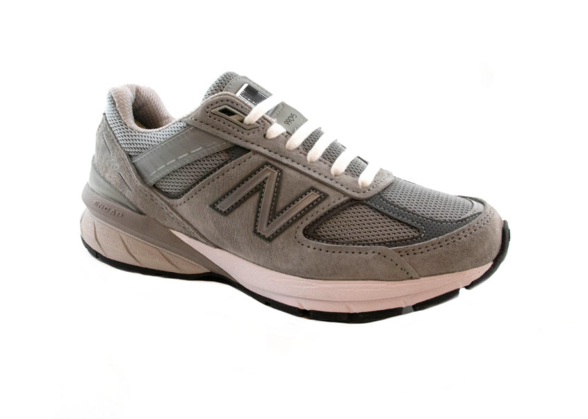 New Balance 990V5 in Grey on an angle